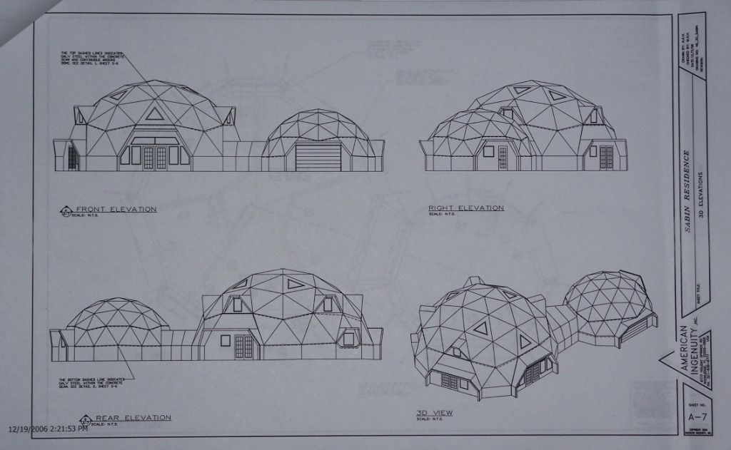 dome home floor plan elevation